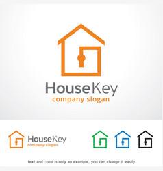 House key logo template design vector