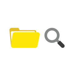 icon concept of opened file folder with vector image
