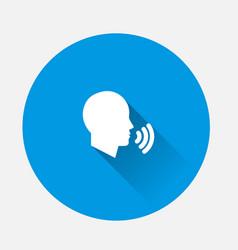 Icon voice command man talking sound voice on vector