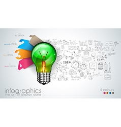 Infographic Layout for Brainstorming Concept vector image