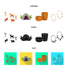 isolated object evolution and neolithic logo vector image