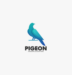 logo pigeon gradient colorful style vector image