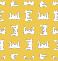 lower jaw seamless pattern mandible human bone vector image