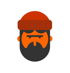 lumberjack face woodcutter head lumberman with vector image