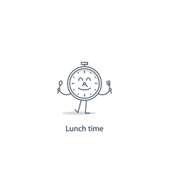 Lunch time concept vector