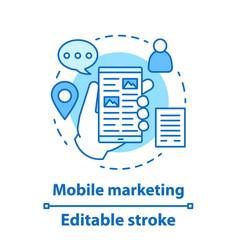 mobile marketing concept icon vector image