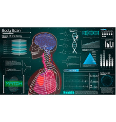 modern medical examination in the style of hud vector image