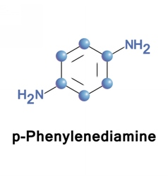 P-phenylenediamine ppd is an organic compound vector