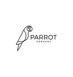 parrot logo bird icon vector image