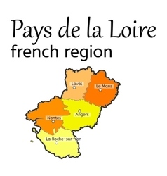 Pays de la Loire french region map vector
