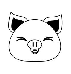 pig cute animal cartoon icon image vector image