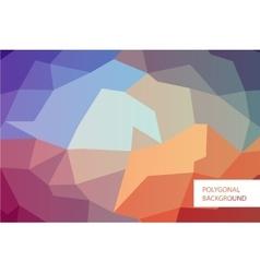 Polygonal greeting card mockup vector image