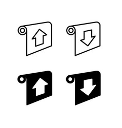 projector screen control icons with direction vector image