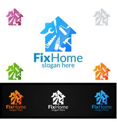 Real estate logo fix home logo design suitable vector