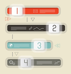 Retro infographics design vector