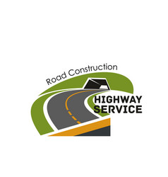Road highway construction service icon vector