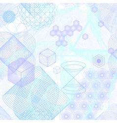 Sacred geometry symbols seamless pattern vector