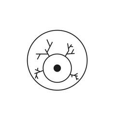 Scary eyeball icon vector