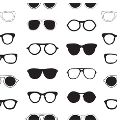 Seamless pattern with sunglasses fashion vector