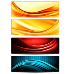 Set of colorful abstract business banners vector image vector image