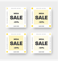 set white web banners for big and mega sale vector image