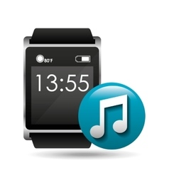 smart watch concept music social media vector image