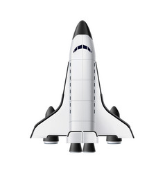 spacecraft shuttle rocket mock up realistic vector image