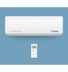 Split system air conditioner Cool and cold vector