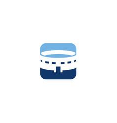 Stadium design icon vector