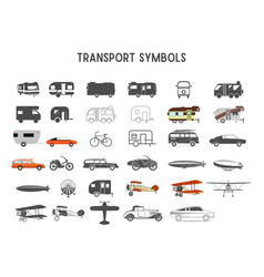 transport shapes and elements for creation vector image