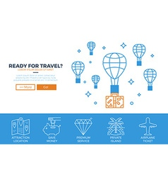 Travel website template vector