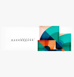 Trendy circles composition geometric background vector