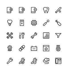 User Interface Colored Line Icons 51 vector image