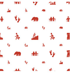 Walking icons pattern seamless white background vector