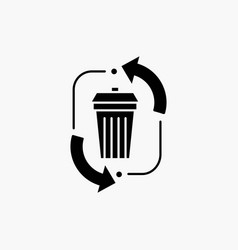 Waste disposal garbage management recycle glyph vector