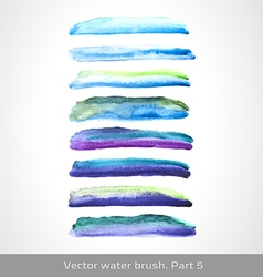 watercolor set stroke vector image