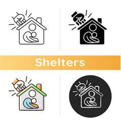 Women shelter icon vector