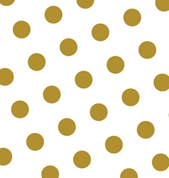 Gold and white polka dots pattern and texture vector image vector image