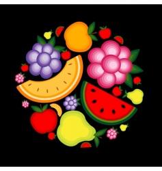 energy fruit background vector image vector image