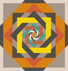 geometrical design a square in a square vector image vector image