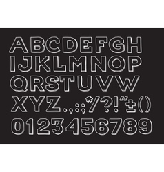 Hand drawin Handmade vintage alphabet handwritting vector image vector image