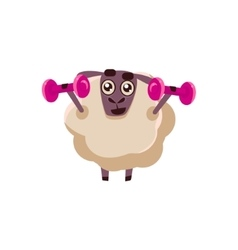 Sheep Training In Gym vector image vector image