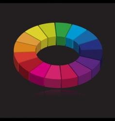 3d color wheel vector