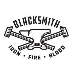 blacksmith emblem or badge vector image vector image