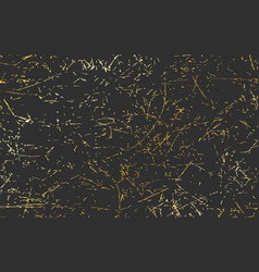 dark gold wall sckratched texture background vector image