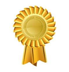 Ornate Gold Rosette Award vector image vector image