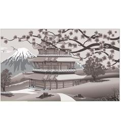 Panorama of nature Asia Palace vector image