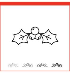 Christmas mistletoe icon vector image vector image