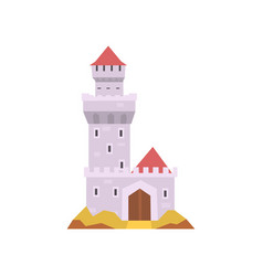 fairy-tale castle isolated on white stone fort vector image