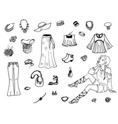 female clothing vector image
